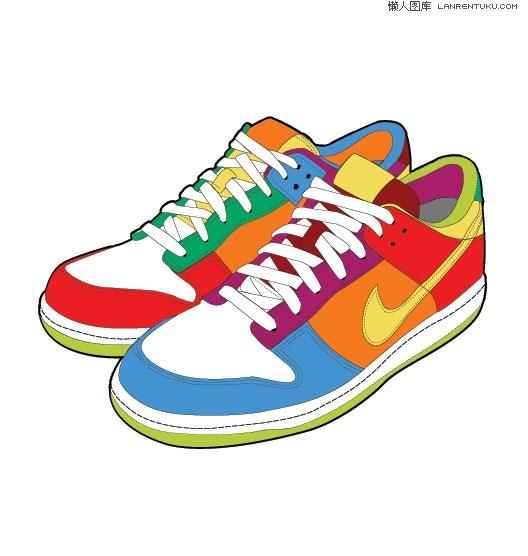 彩色的潮流nike运动鞋