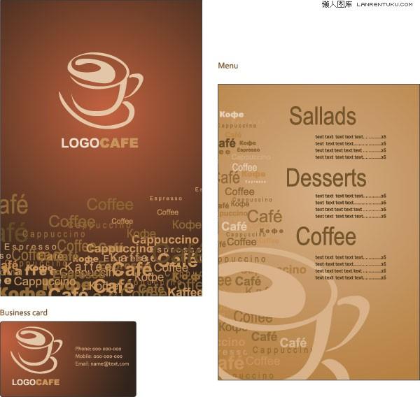 1款咖啡厅VI模板矢量素材图片