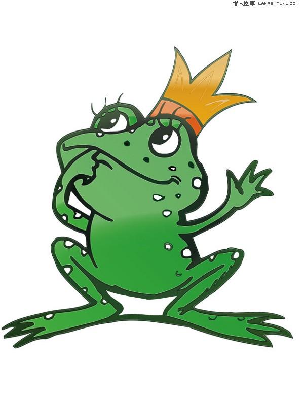 青蛙王子卡通矢量素材 矢量卡通 懒人图库