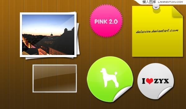 六种WEB2.0桌面装饰元素PSD文件