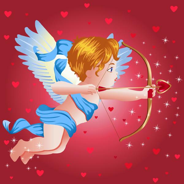 祈祷卡通 小天使祈祷唯美图片