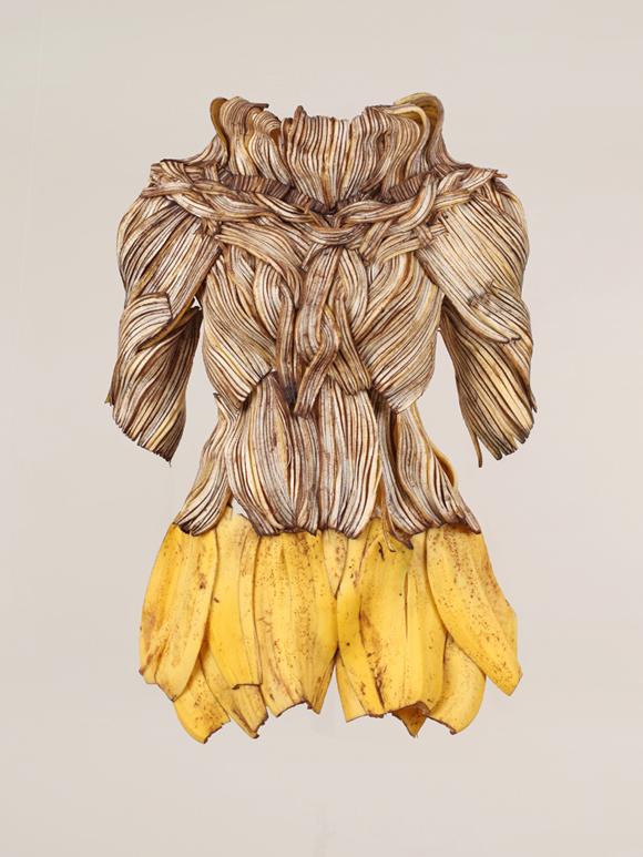 香蕉晚装设计