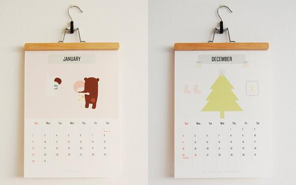 Hanging Calendar Design : 年创意日历设计欣赏 平面设计 懒人图库