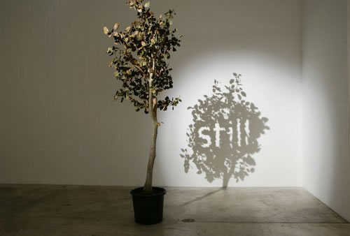 用影子做创意雕塑