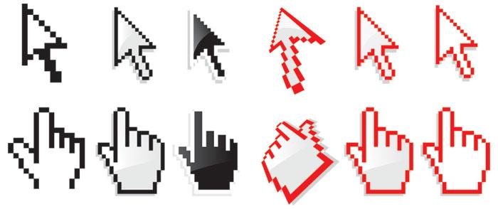 鼠标手和鼠标箭头图案下载图片