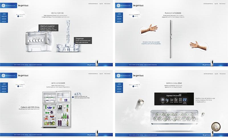 国外冰箱网站设计欣赏