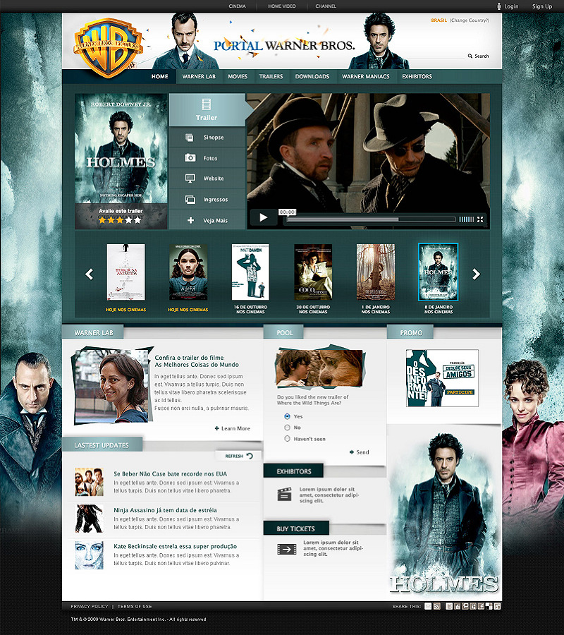 WB电影主题网站欣赏