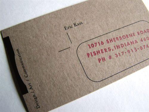 20款环保再生纸名片设计