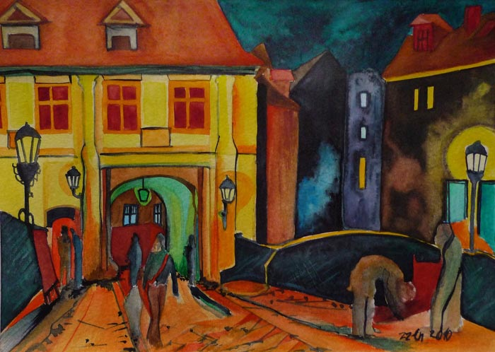 13幅斯洛伐克女画家zzen绘画作品欣赏