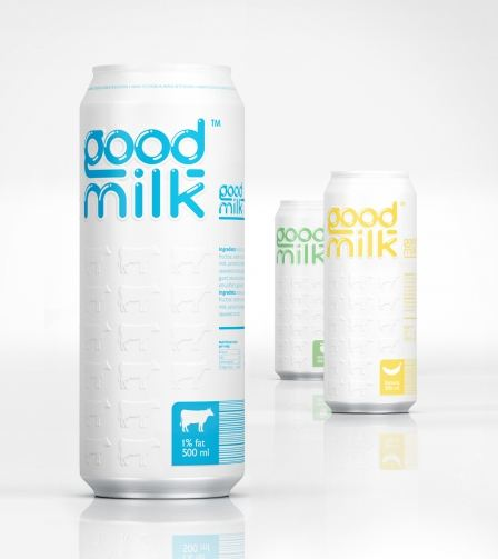 17款瓶装牛奶包装设计欣赏