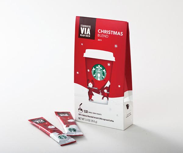 7组星巴克圣诞节产品包装设计欣赏