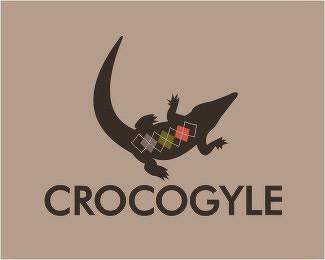 12款鳄鱼题材的标志设计欣赏