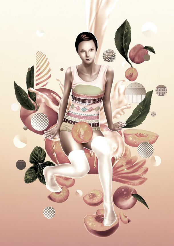 桃子与人体