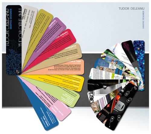 彩色卡片形式创意简历