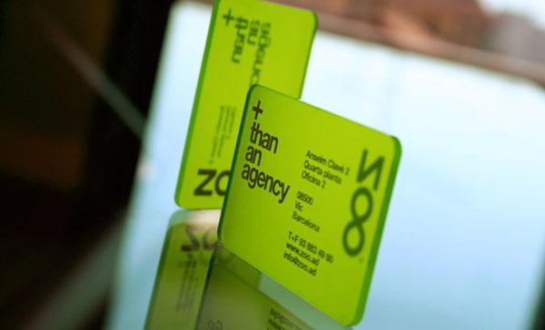 绿色透明名片