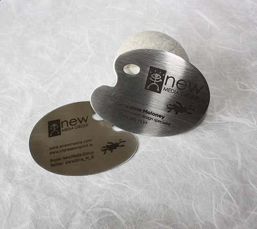 圆形金属名片