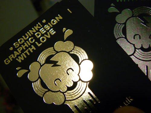 金色烫金logo名片设计