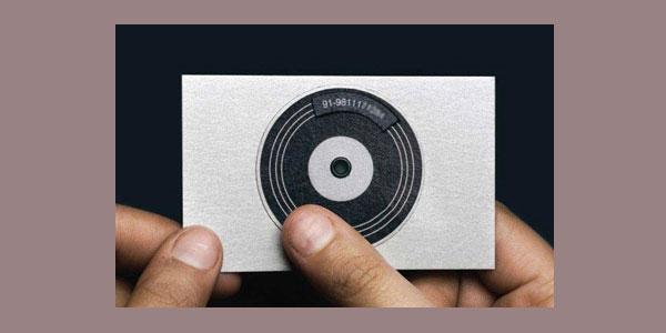 胶片风格DJ名片设计欣赏