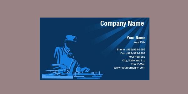 深蓝色DJ名片设计欣赏