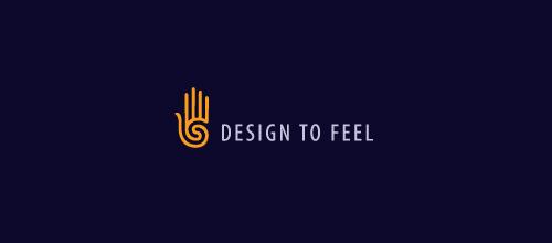 单线条手题材标志设计欣赏