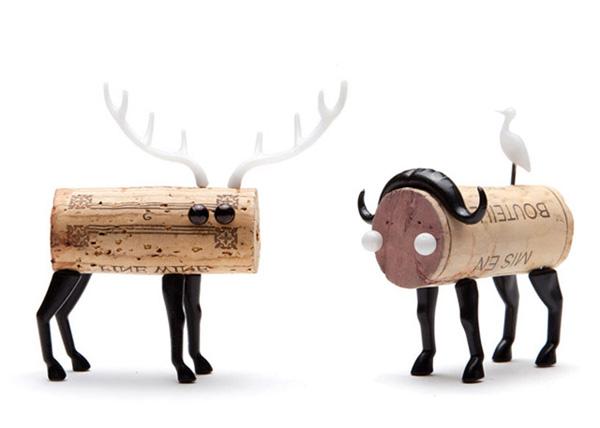动物造型红酒塞梅花鹿和山羊