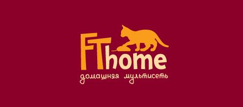 红黄色系猫题材标志设计