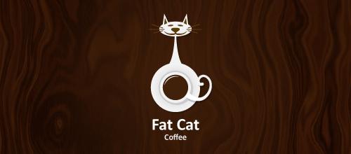 抽象风格猫题材标志设计