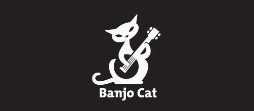 具象风格猫题材标志设计