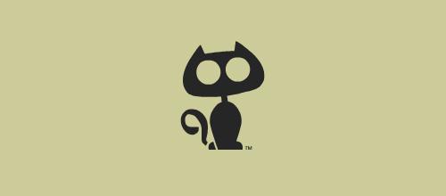 简约风格猫题材标志设计