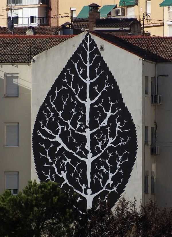 国外街头绘画大树