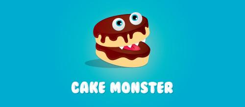 蛋糕题材标志设计卡通风格