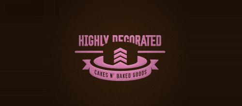 蛋糕题材标志设计简约风格