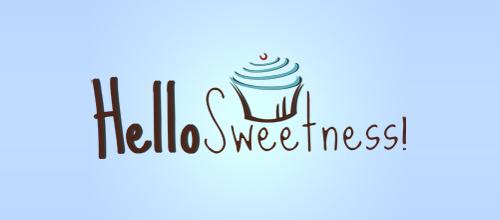 蛋糕题材标志设计抽象风格