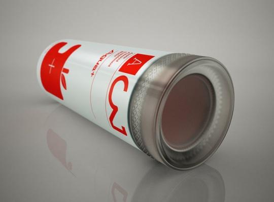 红色易拉罐饮品包装设计