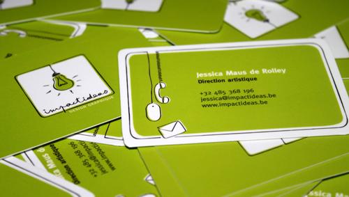 草绿色单色名片设计欣赏