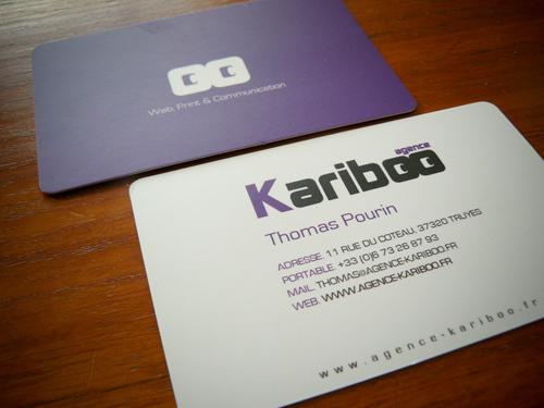 紫色系名片设计欣赏