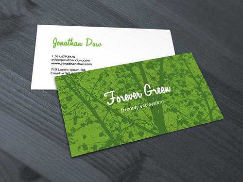 绿色单色名片设计欣赏