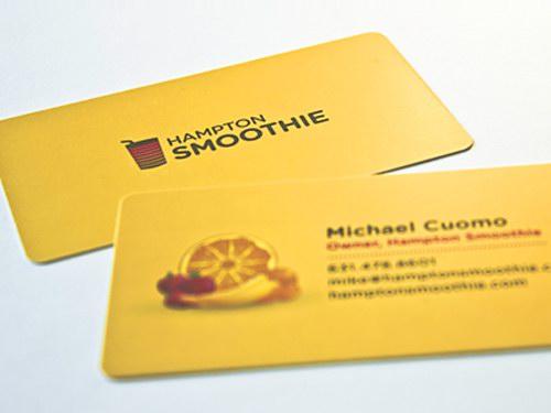 黄色单色名片设计欣赏