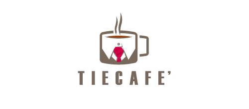 简约风格咖啡题材标志设计