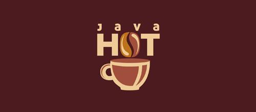 图文结合咖啡题材标志设计