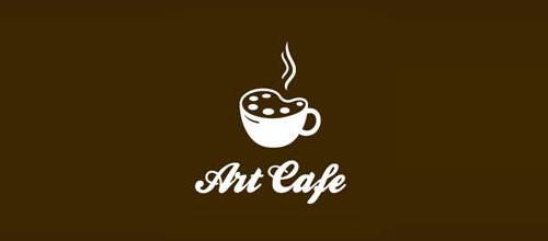 单色系咖啡题材标志设计
