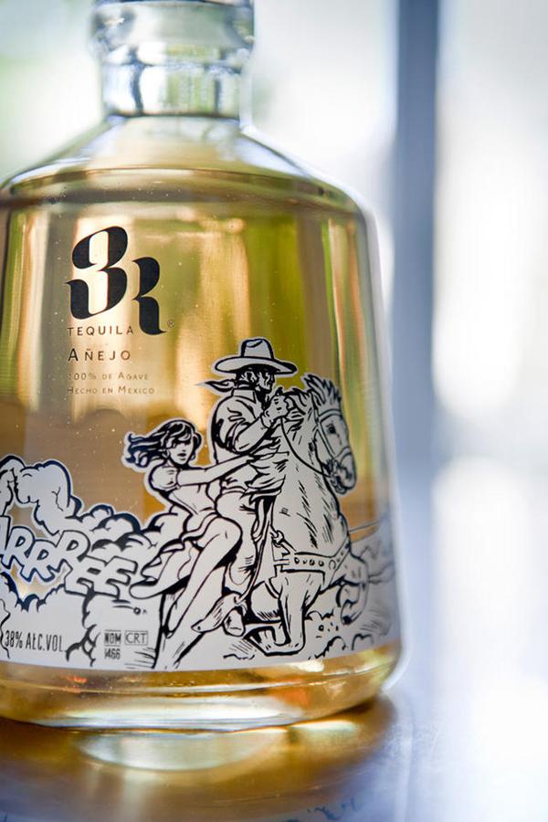 龙舌兰酒瓶身