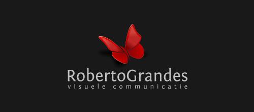 红色蝴蝶题材标志设计欣赏