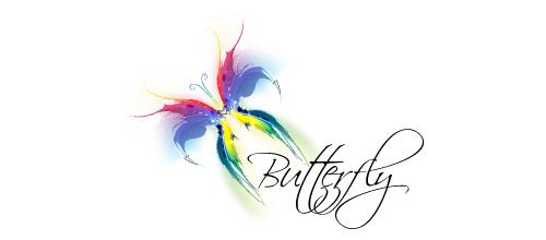 浪漫蝴蝶题材标志设计欣赏