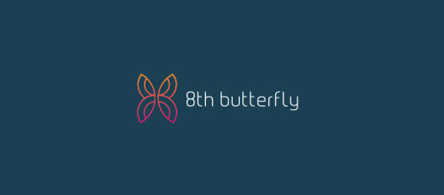 抽象蝴蝶题材标志设计欣赏