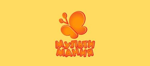 橙色蝴蝶题材标志设计欣赏