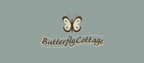 素色蝴蝶题材标志设计欣赏