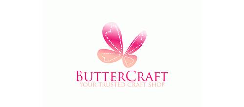 粉色蝴蝶题材标志设计欣赏