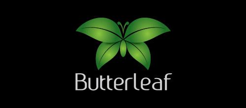 绿色植物蝴蝶题材标志设计欣赏