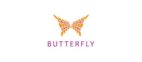 极简风格蝴蝶题材标志设计欣赏